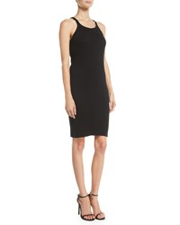 Re Done Ribbed Cotton Tank Dress Black