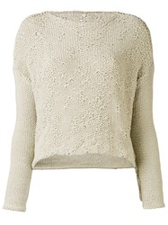 Daniel Andresen Kainen Jumper Women Cotton Linen Flax M Nude Neutrals
