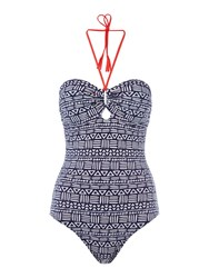 Dickins And Jones Tribal Print Swimsuit Multi Coloured