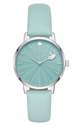 Kate Spade Women's New York Metro Swan Leather Strap Watch 34Mm Blue