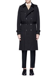 Valentino 'Rockstud Untitled' Double Breasted Trench Coat Black