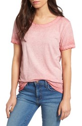 James Perse Women's Sun Faded Cotton Tee Vintage Pink