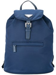 Prada Vintage Logos Backpack Hand Bag Blue