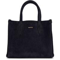 Lanvin Navy Nano Shopper Tote