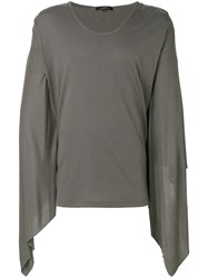 Unconditional Draped Sleeves T Shirt Cotton Xs Green