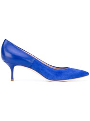Casadei Low Heeled Pumps Women Chamois Leather Leather Nappa Leather Kid Leather 38 Blue