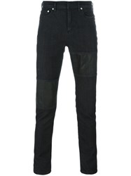 Neil Barrett Panelled Jeans Black