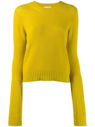 Bottega Veneta Crew Neck Jumper Yellow