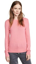 Barrie Crew Neck Cashmere Pullover New Pink