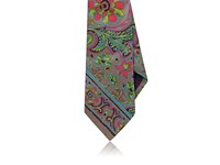 Ralph Lauren Purple Label Men's Floral Silk Foulard Necktie Grey Pink Green Blue Burgundy Tan
