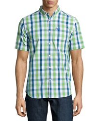 Superdry London Button Down Check Shirt Lime