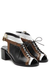 Pierre Hardy Colorblock Open Toe Sandals Black
