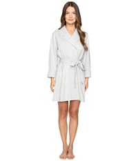 Kate Spade Brushed French Terry Robe Grey Heather Eat Cake For Breakfast