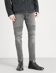 Belstaff Eastham Moto Slim Fit Tapered Jeans Charcoal
