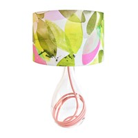 Anna Jacobs Falling Leaves In Spring Lampshade Green