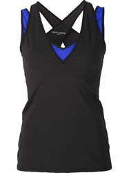 Prabal Gurung Sport 'Colourblock Performance' Tank Black