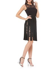 Js Collections Sleeveless Lace Dress Black Nude