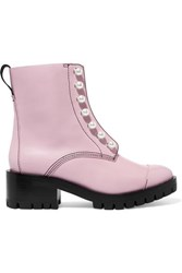 3.1 Phillip Lim Hayett Faux Pearl Embellished Leather Ankle Boots Blush