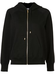 Sonia Rykiel Patches Sleeves Zipped Hoodie Black