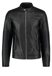 Jack And Jones Jcodalian One Fit Faux Leather Jacket Black