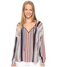Sanctuary Patchwork Boho Blouse Lacey Women's Blouse Multi