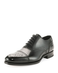 Tom Ford Charles Cap Toe Oxford Shoe Black