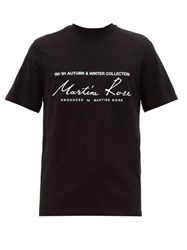 Martine Rose Logo Print Cotton T Shirt Black