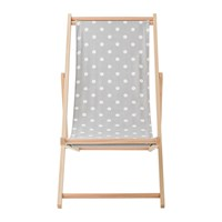 Bloomingville Deck Chair Grey Dots