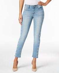 Earl Jeans Embroidered Light Wash Skinny