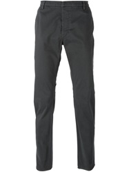 Emporio Armani Slim Chino Trousers Grey