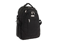 Kenneth Cole Reaction Top Zip Backpack Computer Case Black Backpack Bags