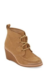 G.H. Bass Women's And Co. Rosa Wedge Bootie Camel Suede