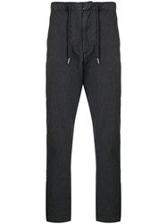 Bellerose Drawstring Tapered Trousers Grey