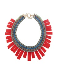Max Mara Ginevra Rope And Beads Necklace