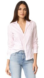 Frank And Eileen Barry Shirt Washed Pink Stripe