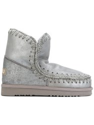 Mou Eskimo 18 Boots Women Leather Wool Rubber 36 Grey