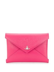 Vivienne Westwood Envelope Shaped Clutch Bag Pink