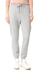 Alexander Wang Soft French Terry Sweatpants Heather Grey