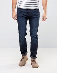 Lee Rider Slim Jean Blue Black Worn Wash Blue Black Worn