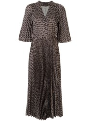 Ginger And Smart Chronicle Sunray Pleated Dress Brown
