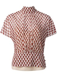 Red Valentino Amarena Print Blouse White