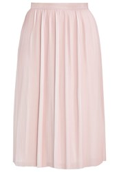 Reiss Adalie Pleated Skirt Pink Linen