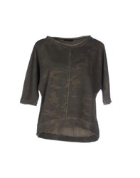 Pinko Black Topwear Sweatshirts Women Military Green
