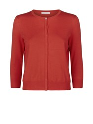 Kaliko Grosgrain Trim Cardigan Red