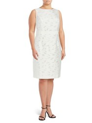 Nipon Boutique Floral Burn Out Dress Lily White
