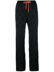 Marcelo Burlon County Of Milan Logo Embossed Track Pants Black