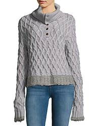 Derek Lam Woven Merino Wool Sweater Grey