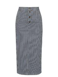 M.I.H Jeans Malo Striped Skirt Blue Stripe
