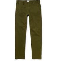 Gant Rugger Stretch Cotton Twill Trousers Army Green