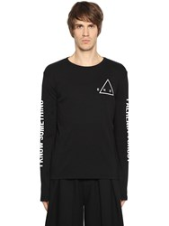 Mcq By Alexander Mcqueen Printed Jersey Long Sleeve T Shirt